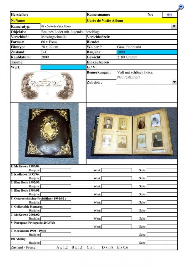 Carte De Visite Alben Teil 6 LG Markus